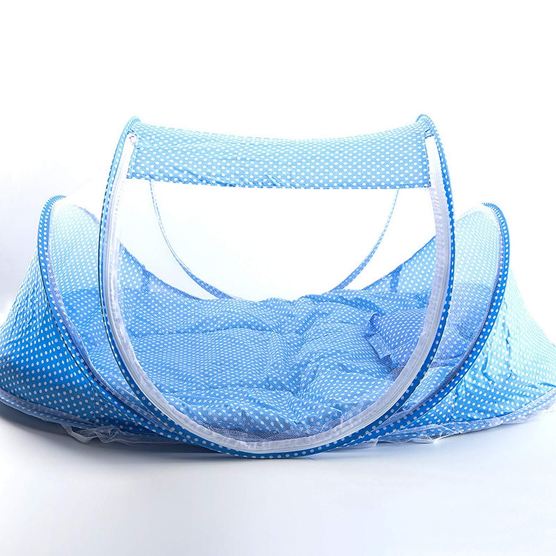 Gro/ßes Baby-Strandzelt Pandady Zusammenklappbare Babybett-Moskitonetze Schlafschirm-Aufstell-Moskitonetz Babybett Travel Mit F/ür Babybetten F/ür Neugeborene Von 0 Bis 24 Monaten,Blue