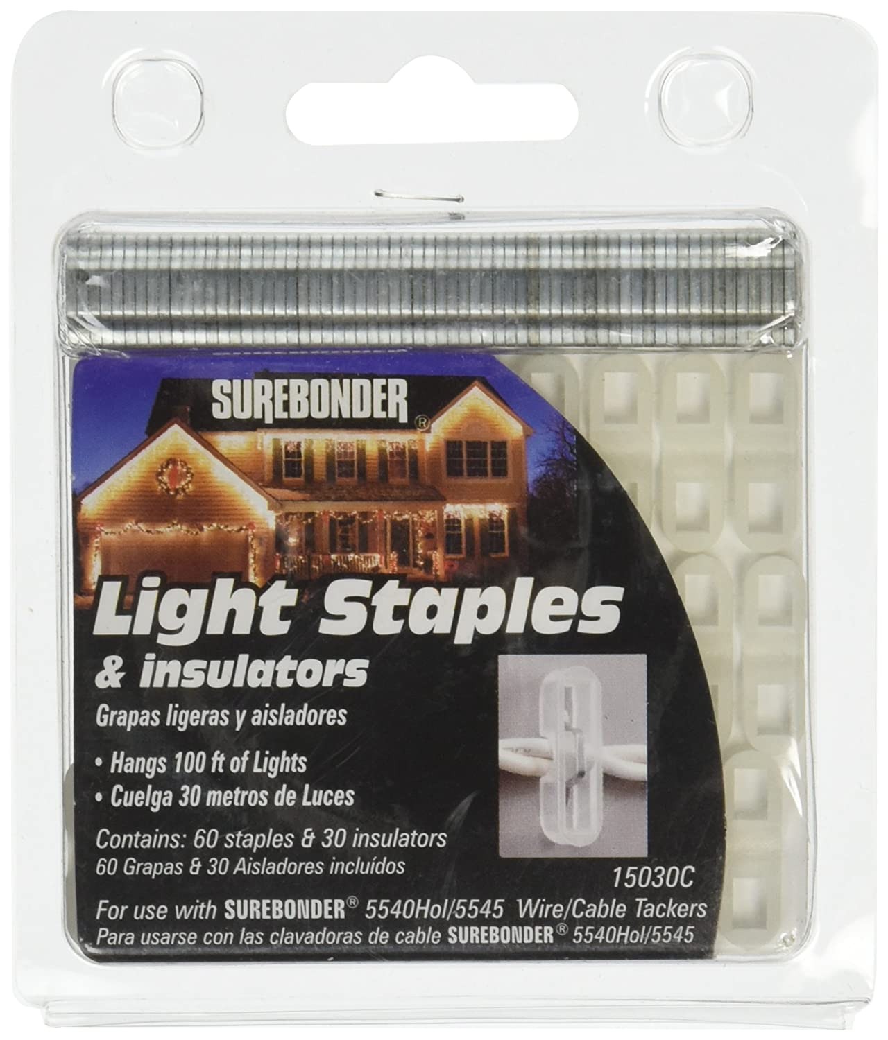 15030C-5 Light Staples and Insulators - 60 Staples and 30 Insulators ...