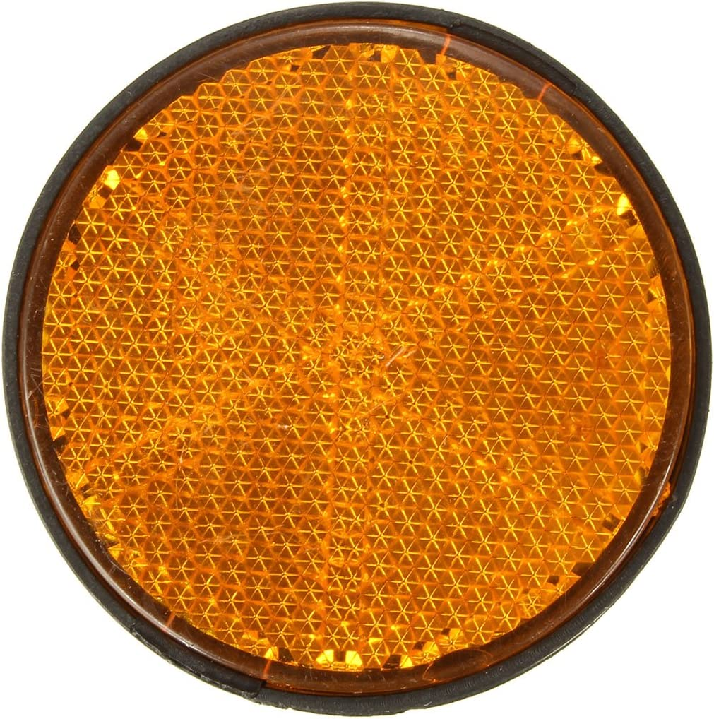Alamor Reflectores Redondos De 2 Pulgadas Universal Para Motos Atv Motos Dirt Bikes-Naranja