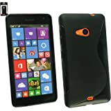 Emartbuy® Ultra Slim Gel Skin Case Cover Black For Microsoft Lumia 535
