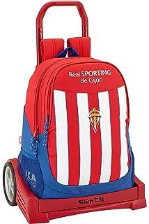 Safta Mochila Escolar Grande Con Ruedas Real Sporting De ...