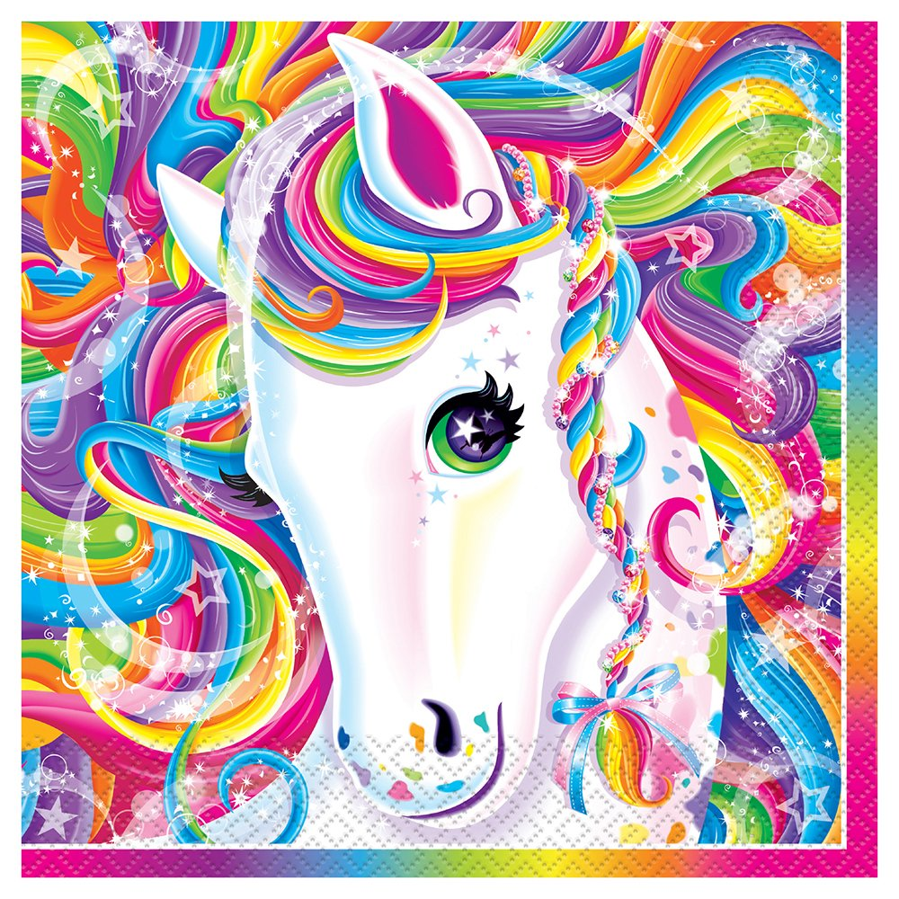 (Lunch Napkins) - Rainbow Majesty by Lisa Frank Luncheon Napkins, 16ct B00HUYVPJY  ランチナプキン