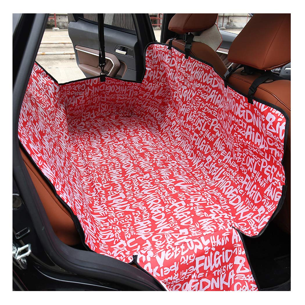GAIBO Pet Seat Covers for Cars with Side Flaps, Waterproof Dog Back Seat Cover Predector Nonslip Easy to Clean, for Cars Trucks SUV,red
