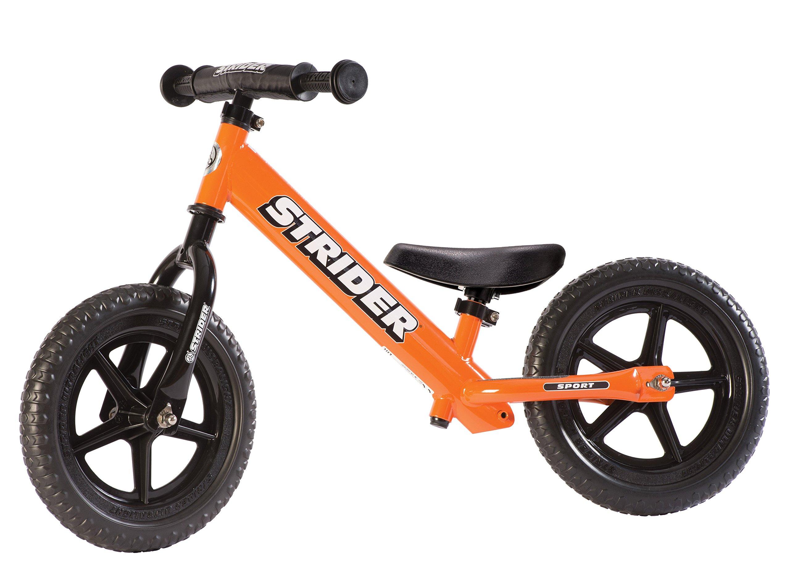 Strider - 12 Sport Balance Bike, Ages 18 Months to 5 Years, Orange by Strider