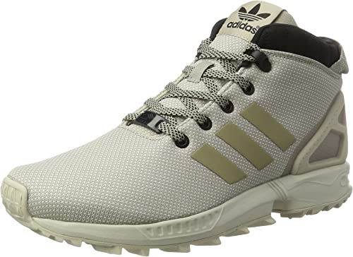 adidas Men's's Zx Flux 58 Tr Hi Top Sneakers Light Clear