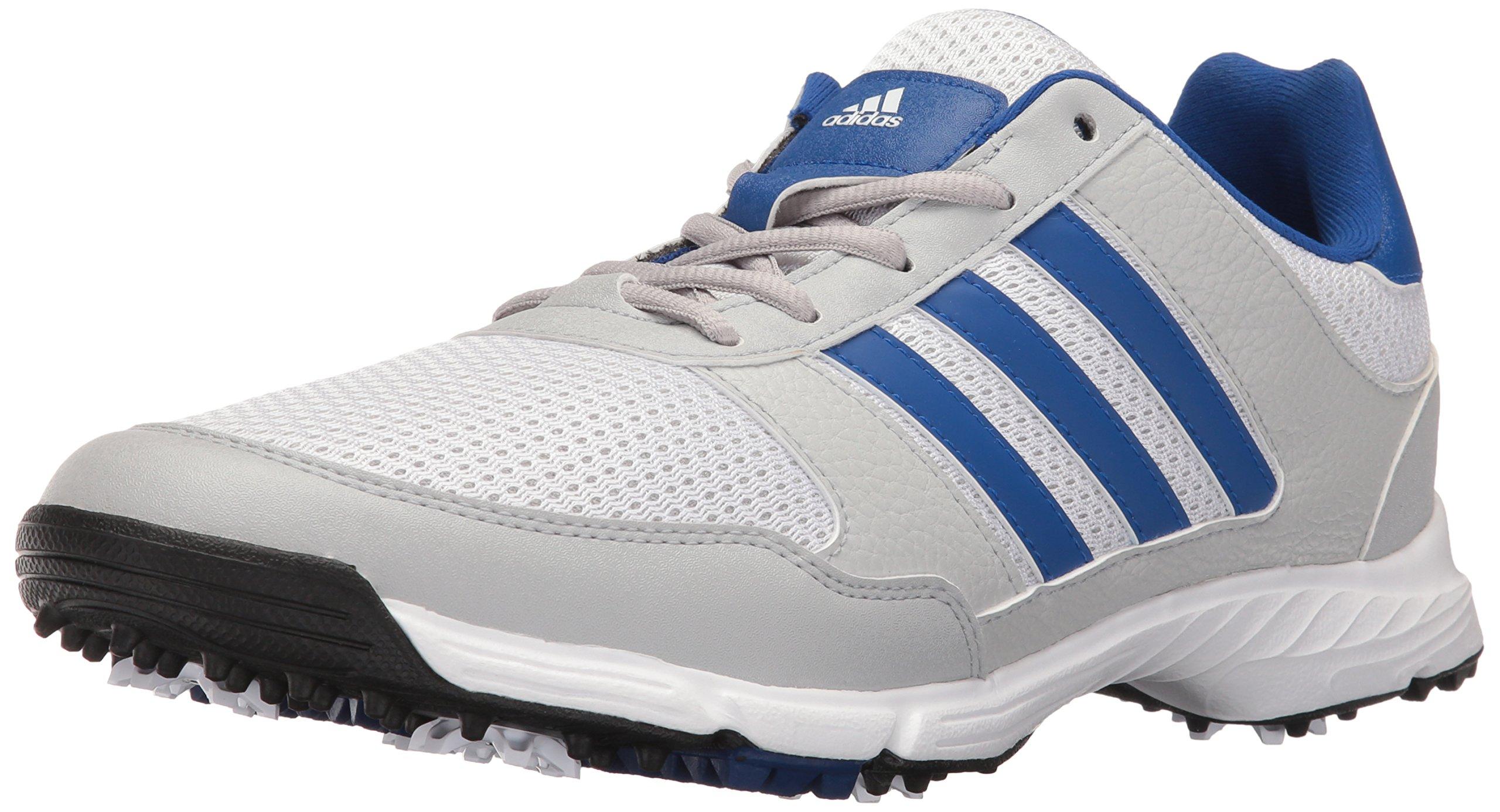 adidas Men's Tech Response 4.0 Golf Shoe, White/Royal, 13 M US by adidas