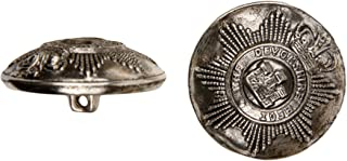 product image for C&C Metal Products 5024 Devonshire Metal Button, Size 45 Ligne, Antique Nickel, 36-Pack