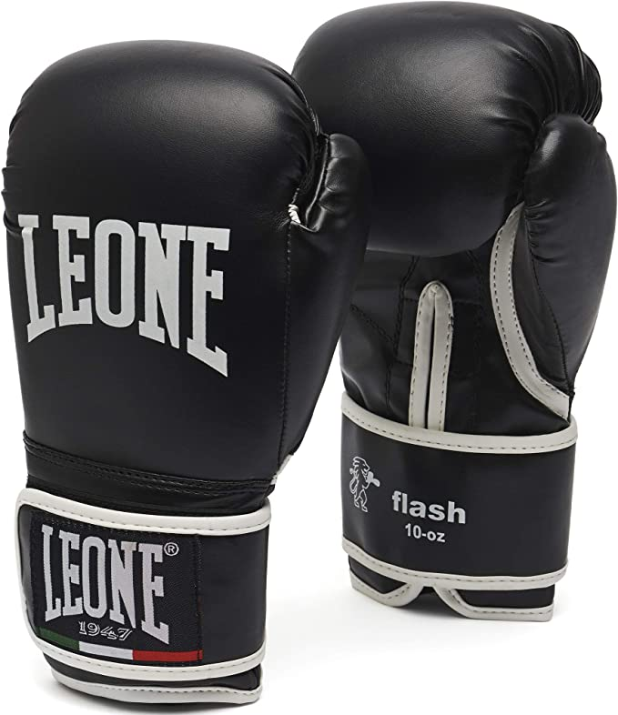 LEONE 1947 Flash Boxing Gloves - Black, 14 Uz