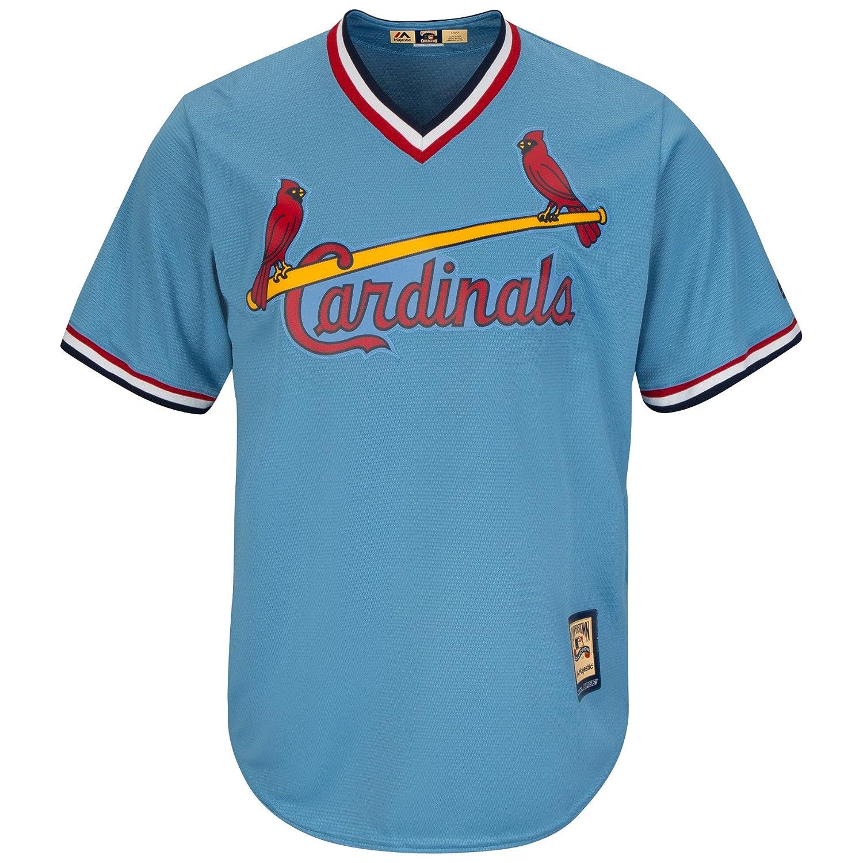 6936d3cb701 Amazon.com   Ozzie Smith St. Louis Cardinals Blue Cool Base Cooperstown  Jersey (XXXXL)   Clothing
