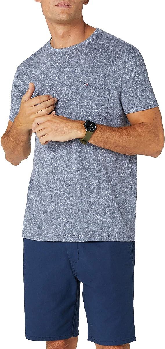 TALLA S. Tommy Hilfiger Essential Pocket Camiseta para Hombre