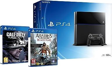 PlayStation 4 - Consola + COD: Ghosts + ACIV: Black Flag: Amazon ...