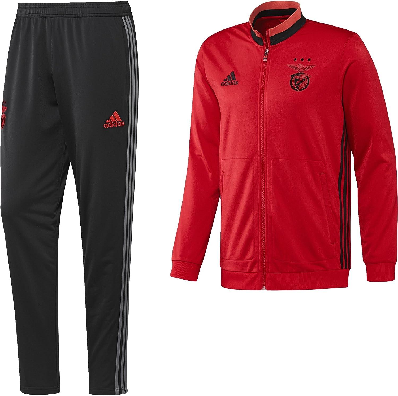 adidas Benfica PES Suit Chándal, Hombre, Rojo (Ben.Ro/Negro/Rojbri ...