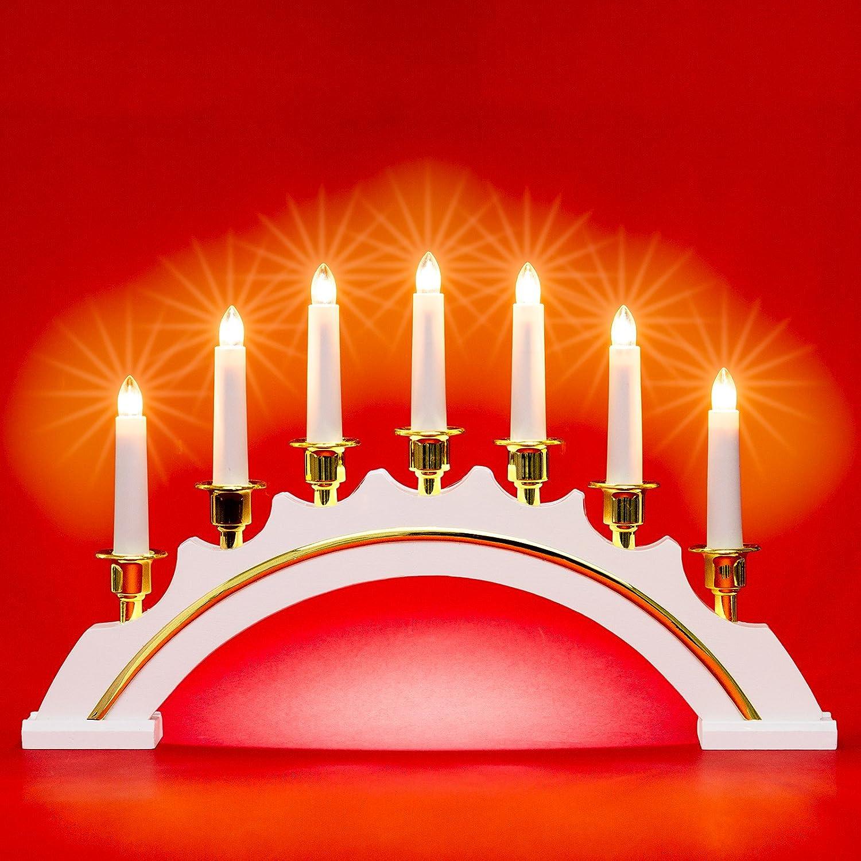 Sikora LB64 - Arco Luminoso Classico in Legno, con 7 Candele elettriche SIKORA Weihnachtswelt
