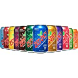 Zevia Zero Calorie Soda, Rainbow Variety Pack, Naturally Sweetened Soda, (24) 12 Ounce Cans; Cola, Ginger Root Beer, Cream So