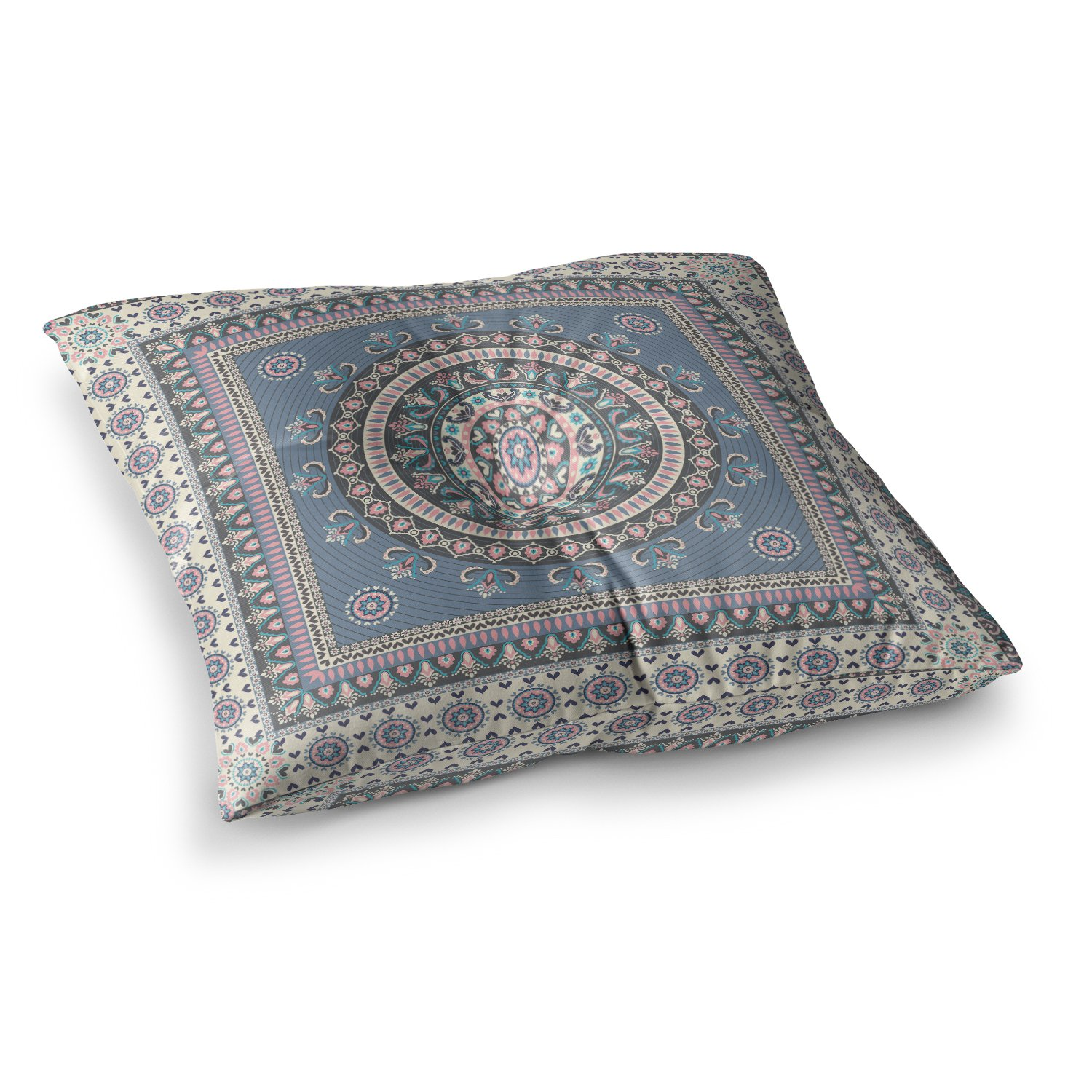Kess InHouse Nandita Singh Chakra Blue Purple Digital, 26' x 26' Square Floor Pillow