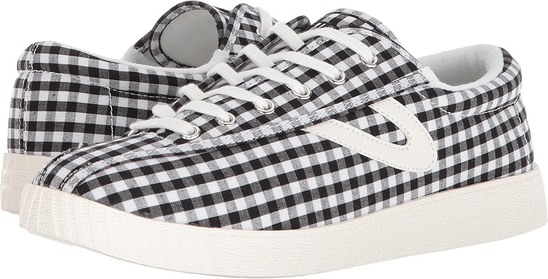 Tretorn Women's Nylite Plus Chambray Sneakers B07BGFZP2K 9.5 B(M) US|Black/White