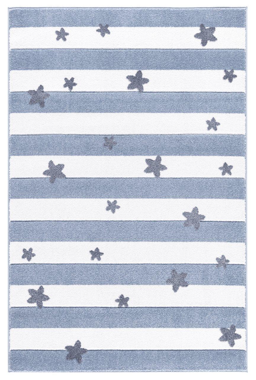 Livone Livone Livone Kinderteppich Happy Rugs Stars Stripes blaugrau weiß 120x180 cm 576852