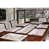 Avira Home Polycotton Rose Garden Table Mats, 32x48cm, Multicolour (Set of 7 )