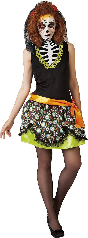 Rubies-S8335 Disfraz adulto Día de los Muertos Katrina, multicolor ...