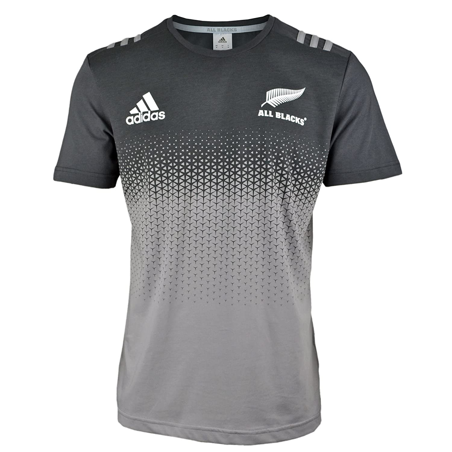 All black t shirt new zealand - New Zealand All Blacks 2017 18 Players Cotton Rugby T Shirt Solid Grey