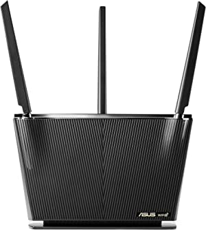 ASUS WiFi 6 Router (RT-AX68U) - Dual Band Gigabit Wireless Router, 3x3 Support, Gaming & Streaming, AiMesh Compatible, Free Lifetime Internet Security, Parental Control, MU-MIMO, OFDMA