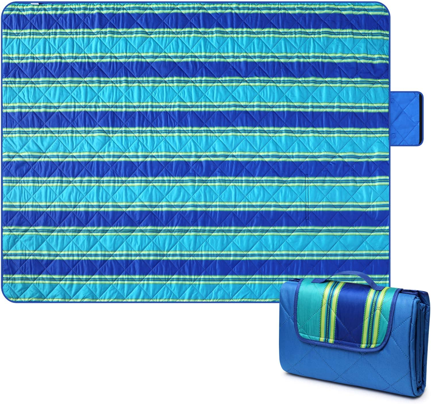 T-Buy Beach Blanket,Oversized Lightweight Beach Mat,Waterproof Picnic Blanket Made by Premium Nylon for or Travel,Camping,Hiking 78 * 72 inch