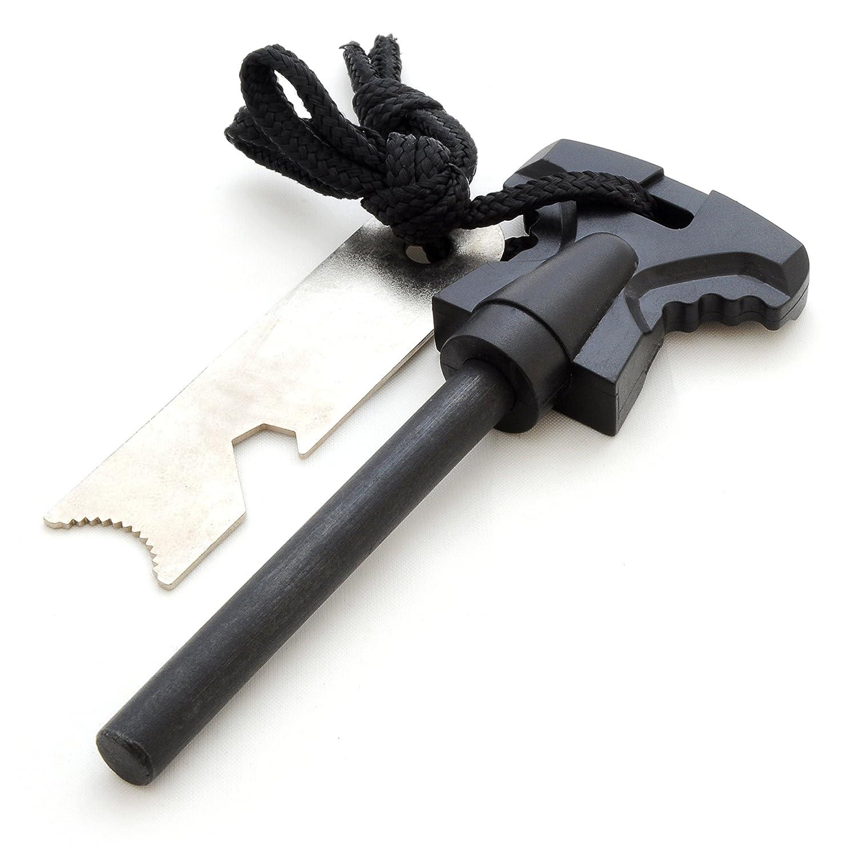 Fuoco acciaio/fuoco pietra (selce) in magnesio (68 mm lunghezza) per Outdoor/sopravvivenza, campeggio-connettore per accendisigari (Fire Steel) - marca Ganzoo #N5090sw