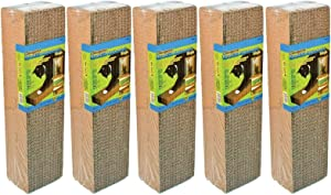 Ware 5 Pack of Corrugated Replacement Pads for Cat Scratchers, 2 Pads Per Pack