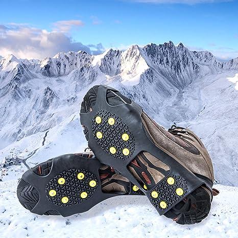 Alps Ice Grips Snow Traction Gear Slip-on Sharp Steel Cleats Black Med UNISEX
