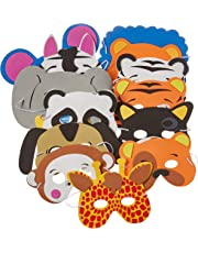 Rhode Island Novelty 097138658326 12 Assorted Foam Animal Masks for Birthday Party Favors Dress-Up Costume