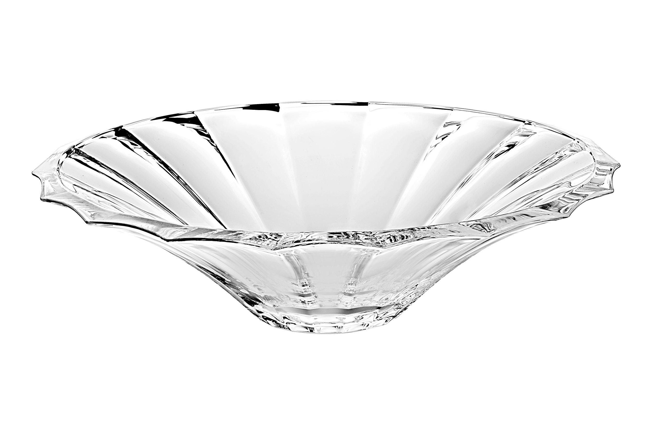 Barski - European Glass - Centerpiece Bowl - 13.2 '' Diameter - Made in Europe by Barski