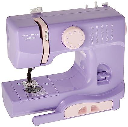 Amazon Janome Lady Lilac Basic EasytoUse 40Stitch Portable Enchanting Smallest Sewing Machine