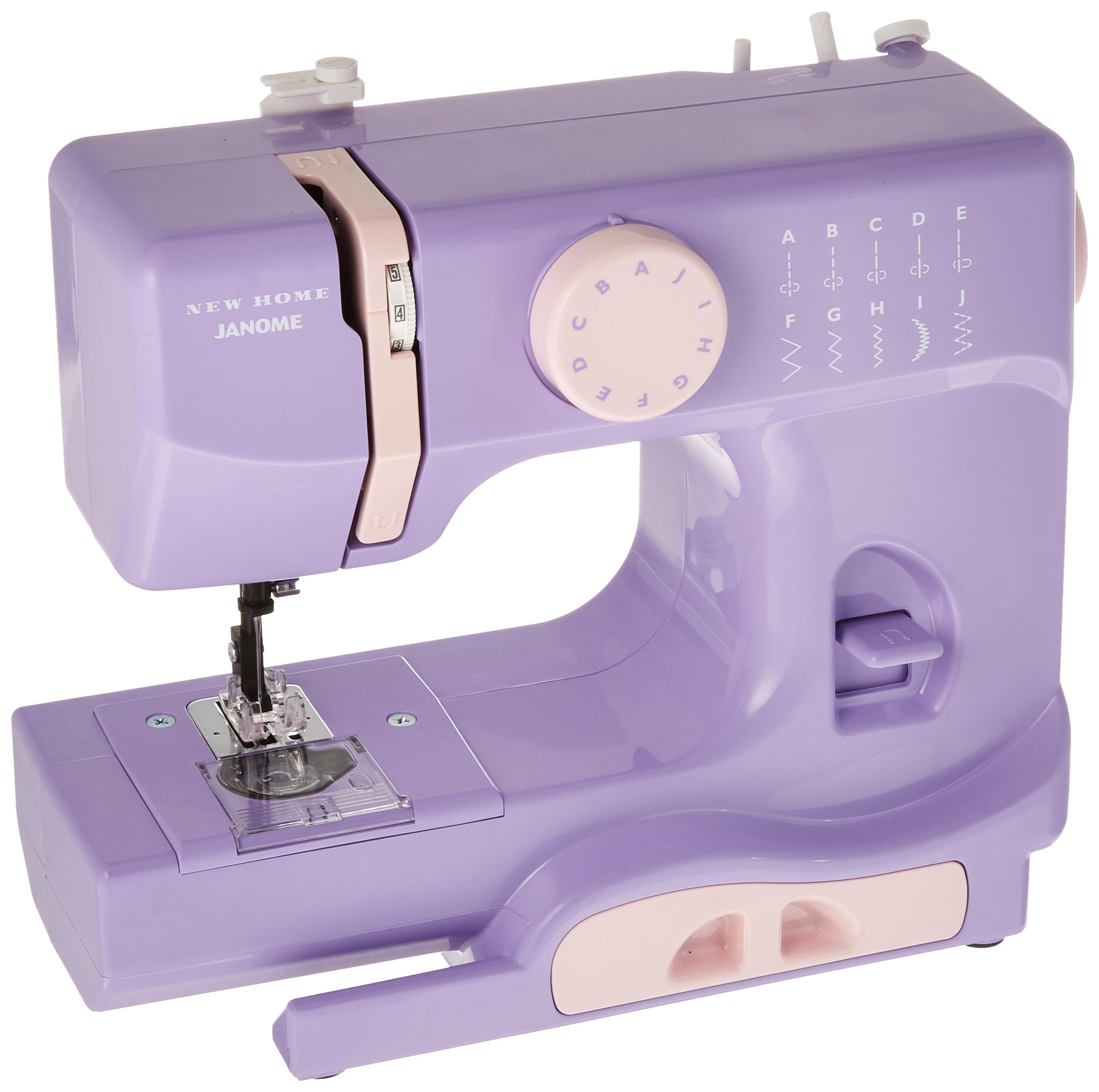 Compact Sewing Machine with Free Arm only 5 pounds Janome Lady Lilac Basic 10-Stitch Portable Easy-to-Use