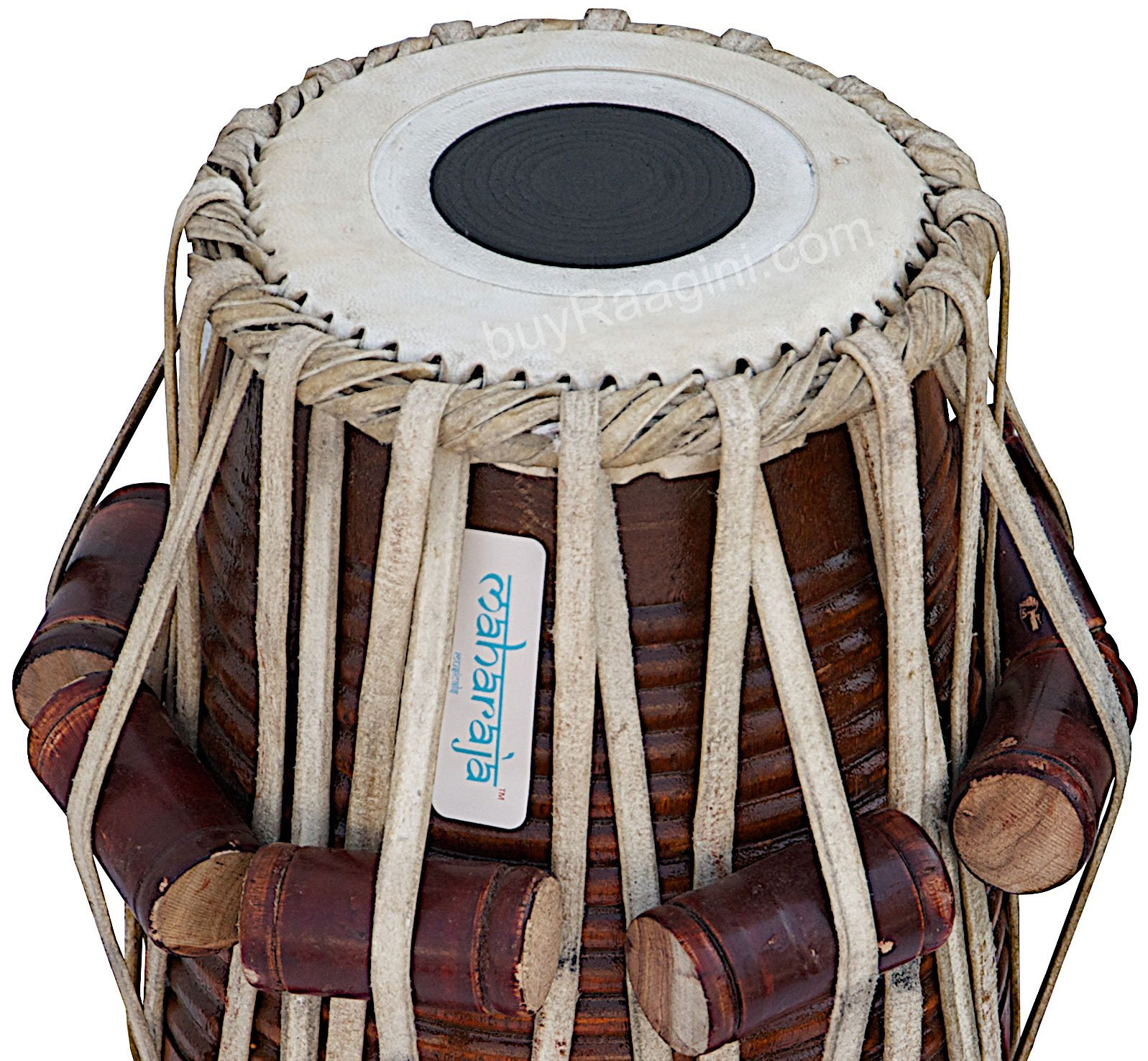 Tabla Set by Maharaja Musicals, Golden Brass Bayan 3Kg, Sheesham Dayan Tabla, Nylon Bag, Hammer, Book, Cushions, Cover, Tabla Indian Drums (PDI-CH) by Maharaja Musicals (Image #6)