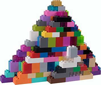 Large Pegs Only Premium Big Briks 12 Color Rainbow Basic Builder Set #1-84 Pack Compatible with All Major Large Size Brands