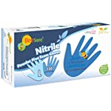 BeeSure BE1118 Nitrile Powder Free Exam Gloves, Large (Pack of 100)