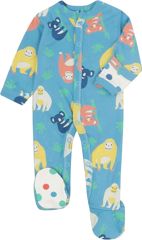 Piccalilly - Pijama para bebé con pies, suave jersey, algodón orgánico sin químicos, naranjután + impresión Koala, unisex, para bebé y niño: Amazon.es: Ropa y accesorios