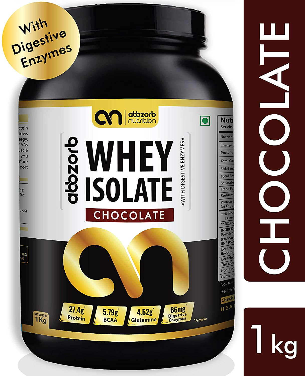 Abbzorb Nutrition Whey Protein Isolate