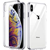 ULAK Ultra Clear Protective Case for iPhone Xs Max (2018), Slim Fit Premium Hybrid TPU Bumper Shock-Absorption Anti-Scratch Hard PC Back Cover, HD Crystal Clear