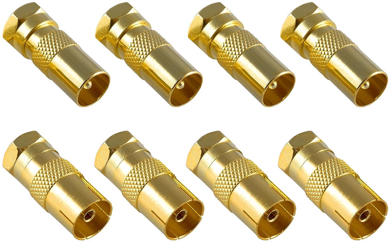 cable de antena acoplamiento coaxial para cable coaxial Juego de adaptadores coaxiales de antena Poppstar