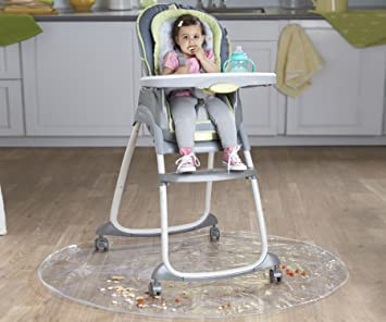 Nuby Floor Mat For Baby, Plastic Play Mat, Waterproof High Chair Floor  Protector,