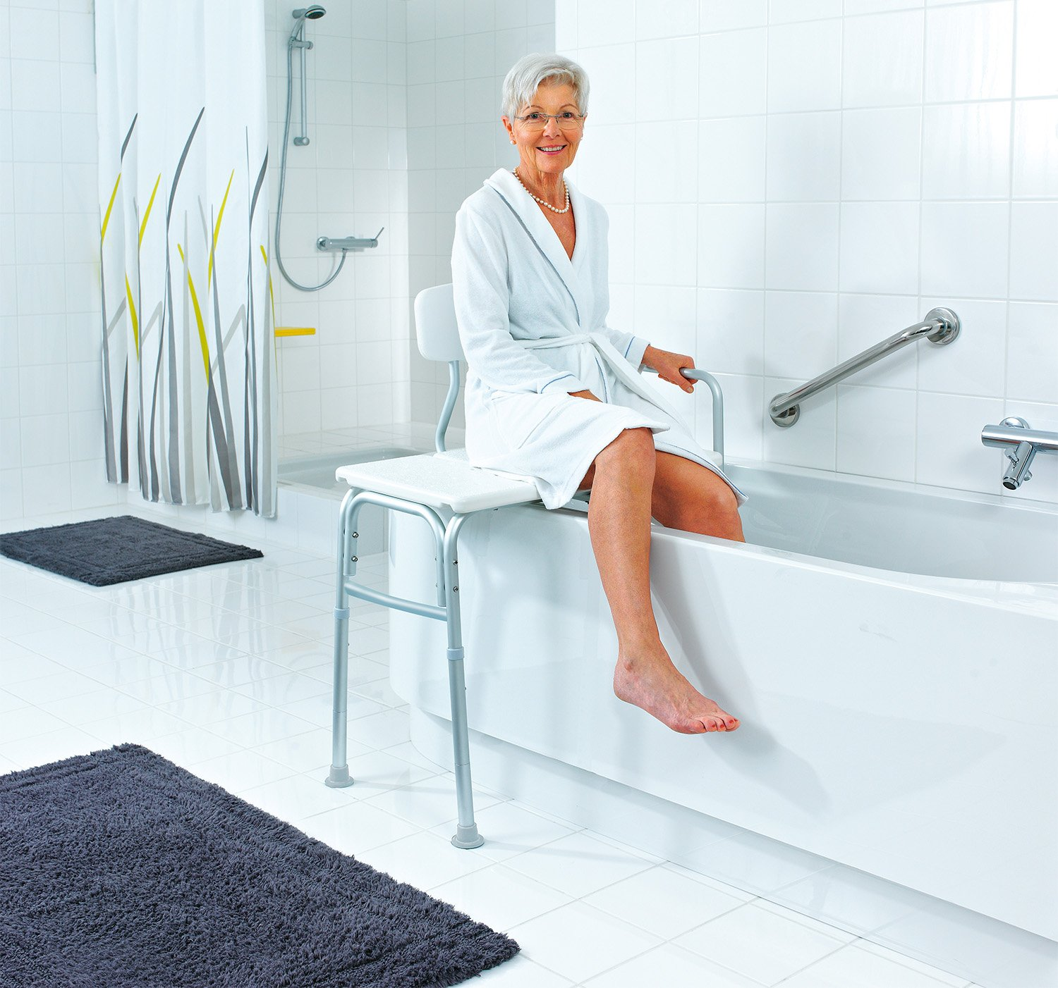 Ridder A0120101 Bathtub Assistance Bench White: Amazon.co.uk ...