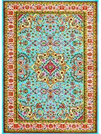 blue area rug carpet large new