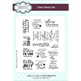 Creative Expressions - Christmas Words Card Craft Clear Stamp Set