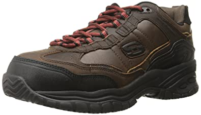 4010d41848b6e Skechers for Work Soft Stride Constructor II Athletic Hiker Boot,Dark Brown,7  M