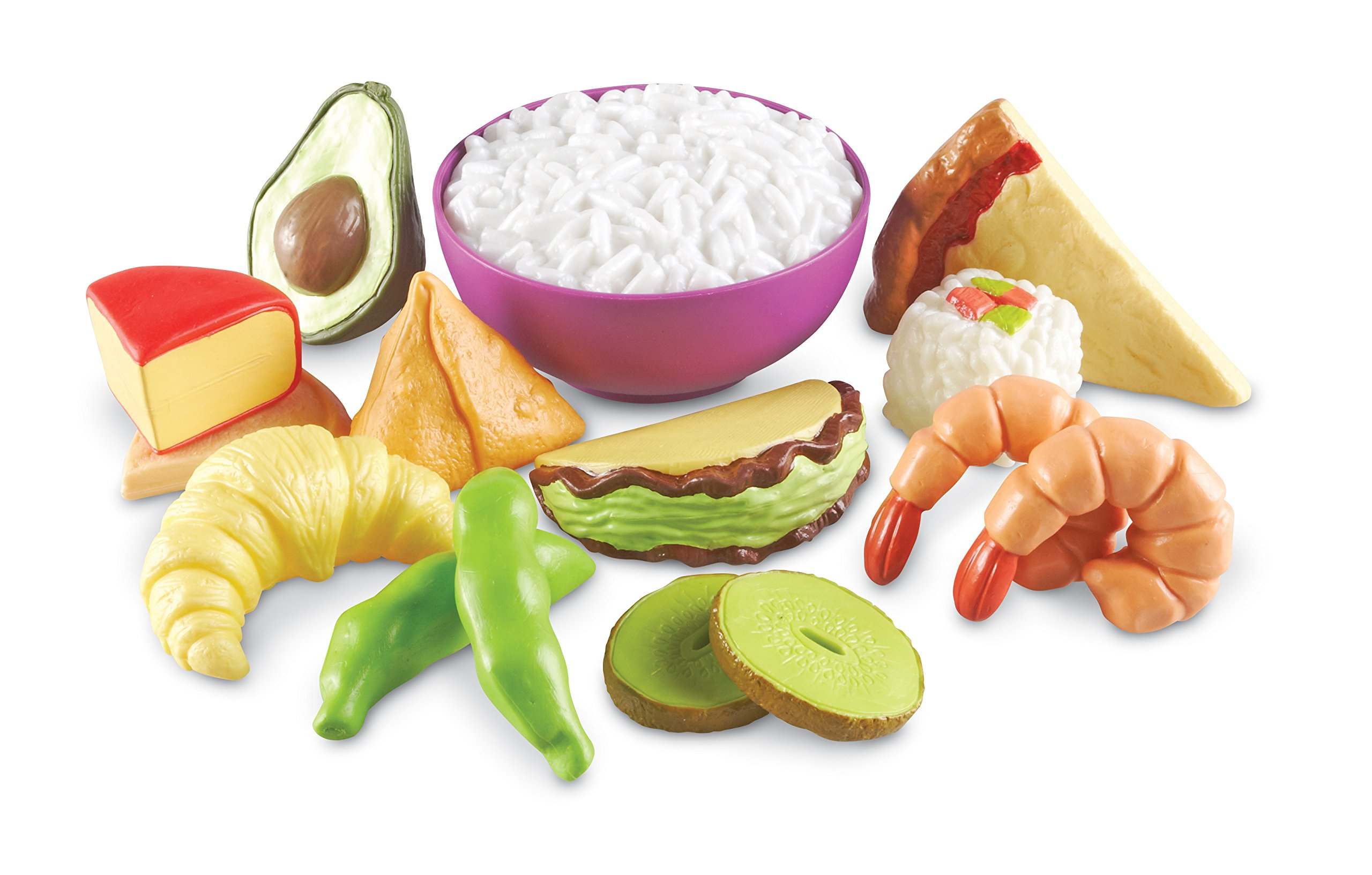 Learning Resources New Sprouts Multicultural Food Set, 15 Pieces