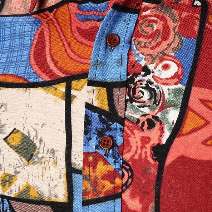 Resplend Blusa Superior de Manga Larga Delgada de Verano de la Personalidad de los Hombres Ocasionales de la Personalidad: Amazon.es: Ropa y accesorios