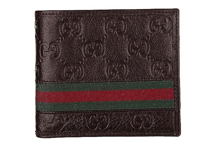 imágenes detalladas extremadamente único marca famosa Gucci Billetera de cuero para hombre GUCCISSIMA MARGAUX ...