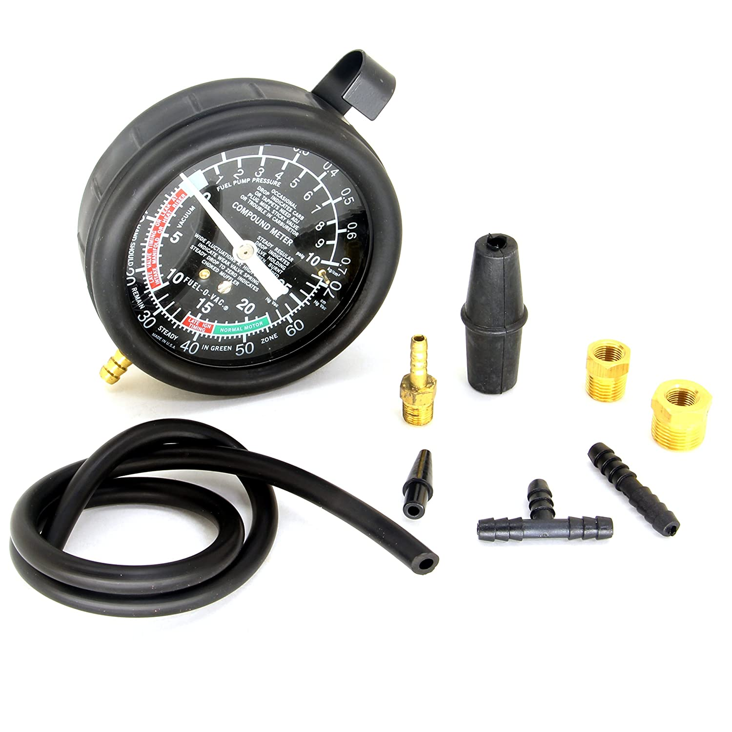 HFS R Carburetor Carb Valve Fuel Pump Pressure /& Vacuum Tester Gauge Test Kit Hardware Factory Store 11902