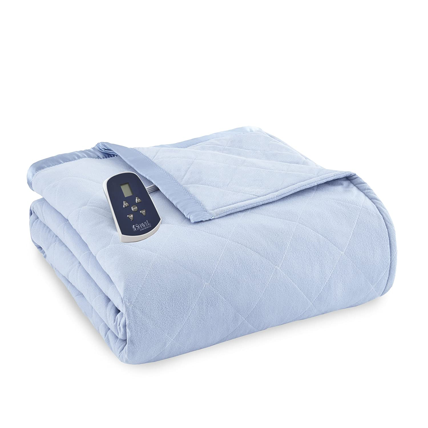 Shavel Home Products Thermee Electric Blanket, English Blue, Twin